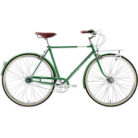 Creme Caferacer Doppio City Bike green